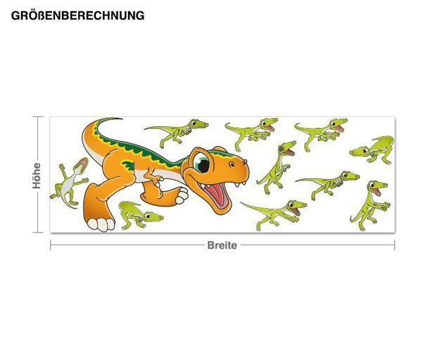 Wandsticker Spielende Dinos