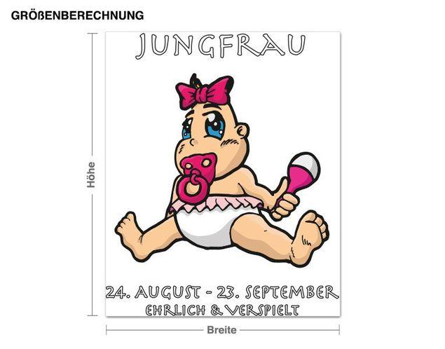 Wandsticker Sternzeichen Jungfrau