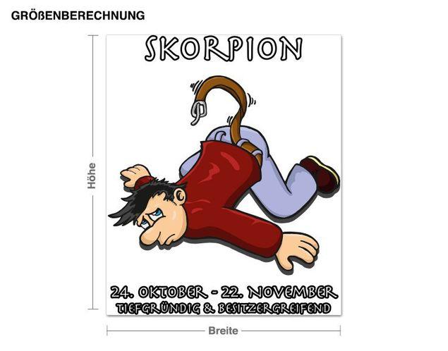 Wandsticker Sternzeichen Skorpion