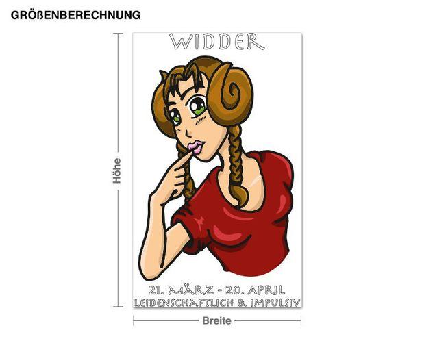 Wandsticker Sternzeichen Widder