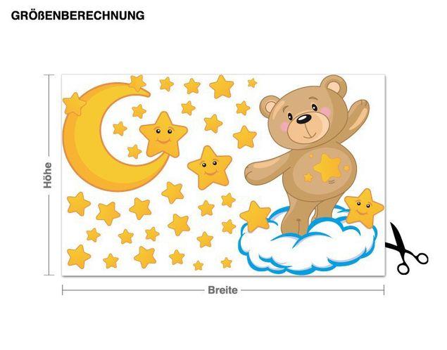 Wandsticker Teddys Sternenzeit