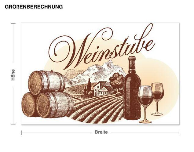 Wandsticker Weinstube Vintage