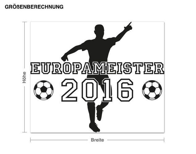 Wandtattoo 2016 - Europameister