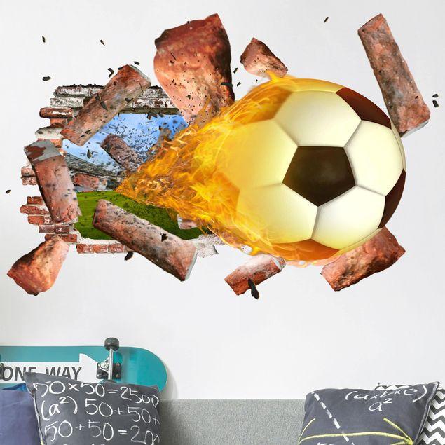 3D Wandtattoo - Fußball - Quer 2:3