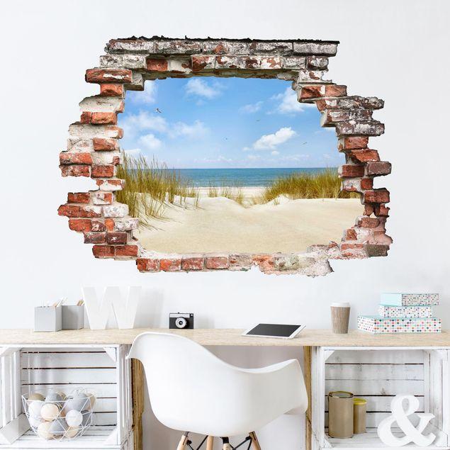 Wandtattoo Strand An Der Nordsee Bilderwelten De