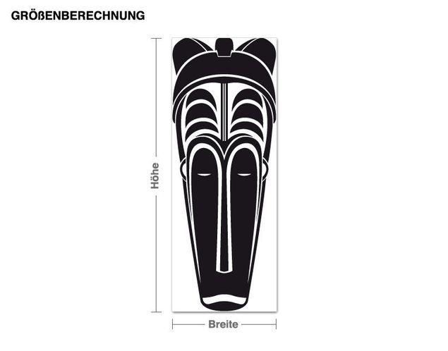 Wandtattoo Afrikanische Maske 2
