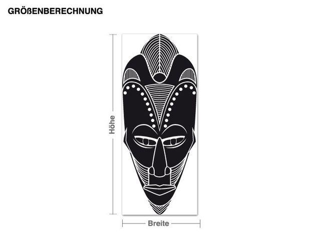Wandtattoo Afrikanische Maske