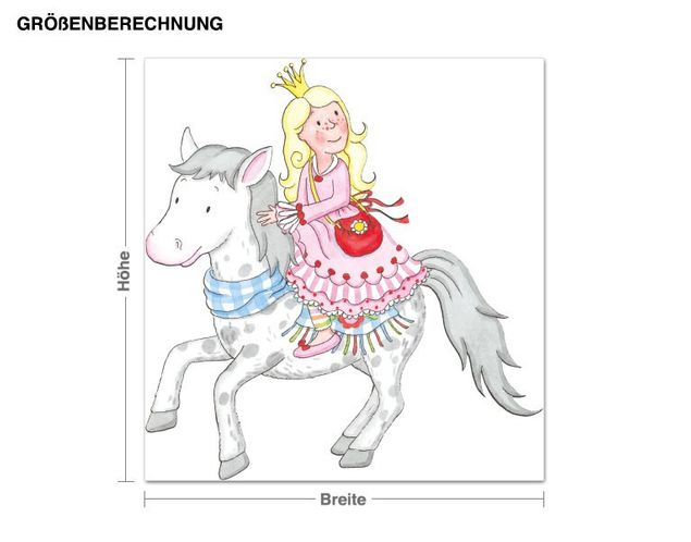 Wandtattoo Anneli mit ihrem Pony