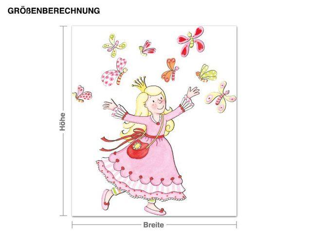 Wandtattoo Anneli und die Schmetterlinge