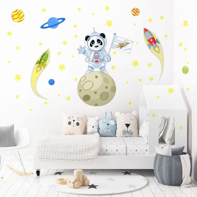 Wandtattoo Astronaut Panda Bilderwelten De