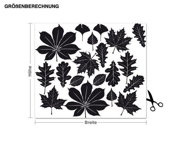 Wandtattoo Blätter