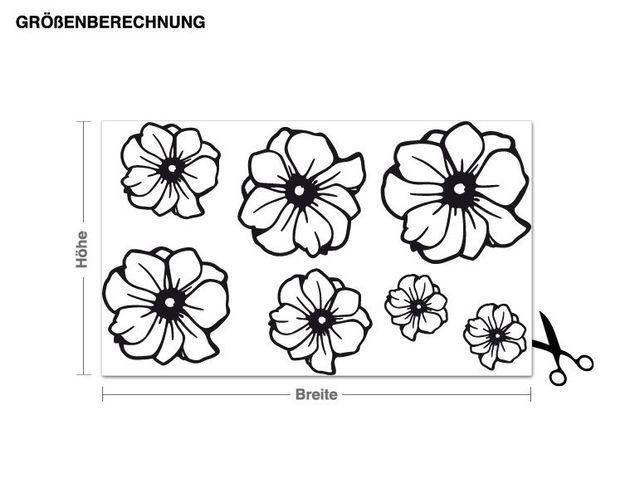 Wandtattoo Blumen-Set