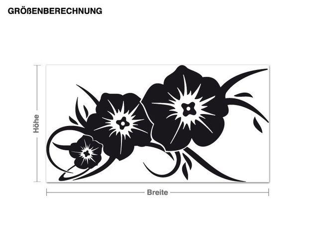 Wandtattoo Blumengruß