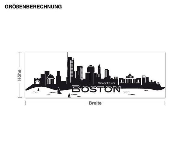 Wandtattoo Boston