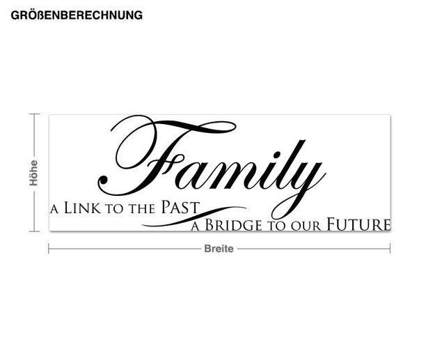 Wandtattoo Bridge to our future