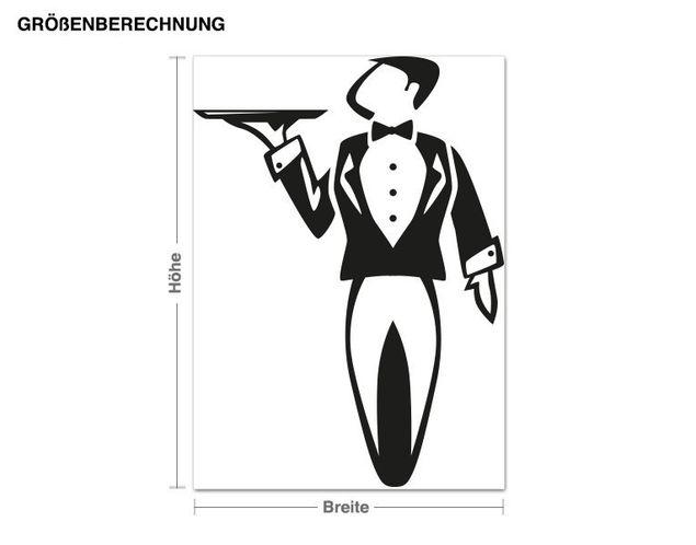 Wandtattoo Butler