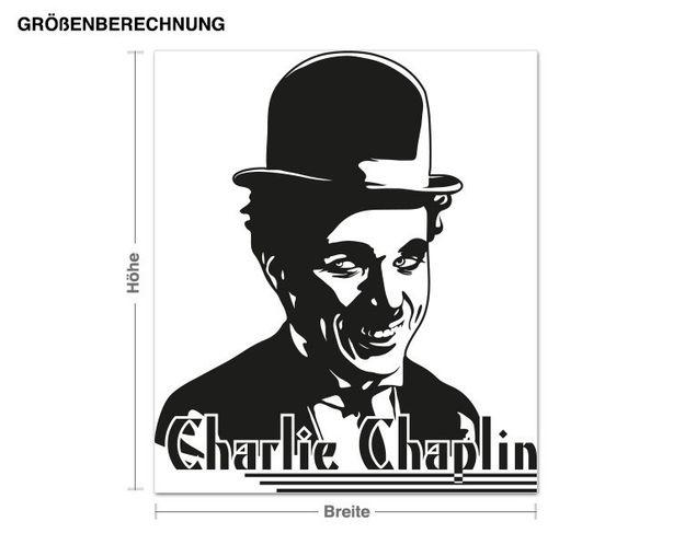 Wandtattoo Charlie Chaplin Portrait