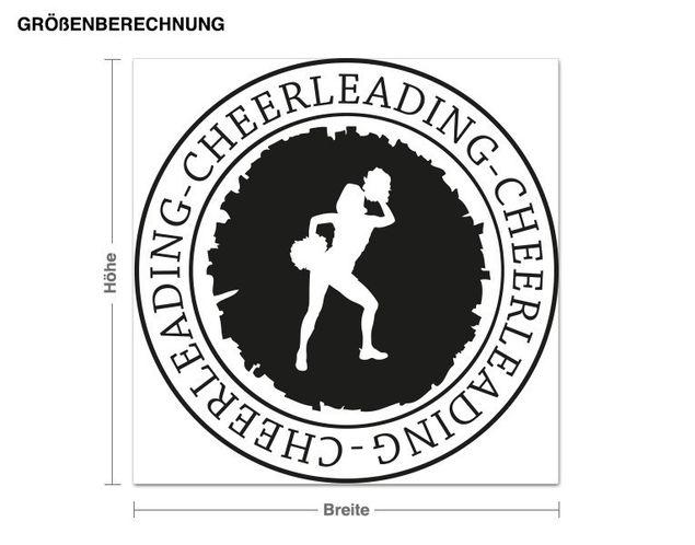 Wandtattoo Cheerleading