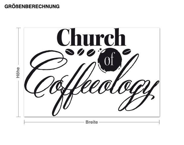 Wandtattoo Church of Coffeeology