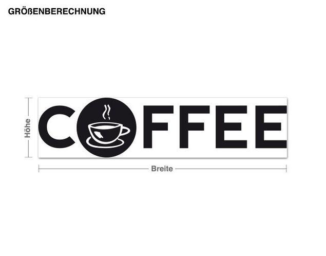 Wandtattoo Coffee