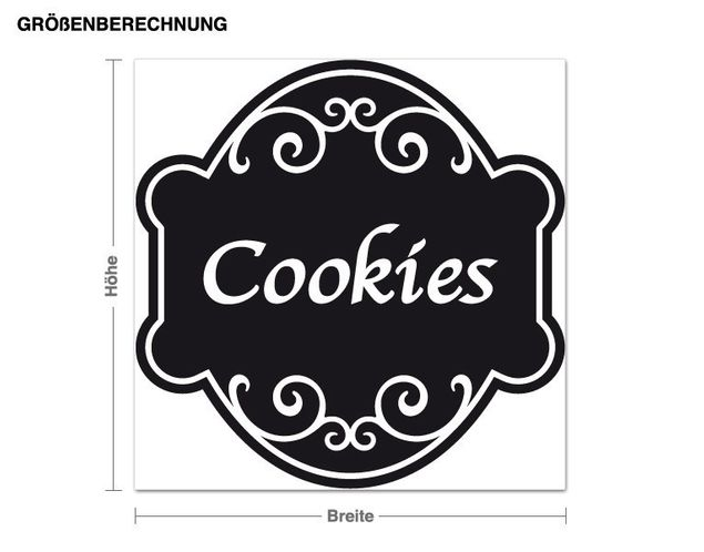 Wandtattoo Cookies