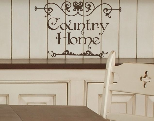 Wandtattoo Country Home