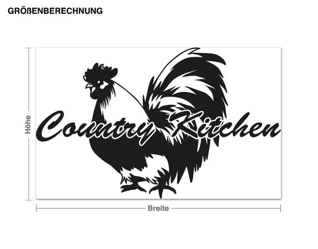 Wandtattoo Country Kitchen