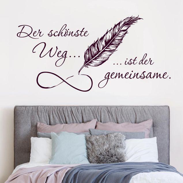 Wandtattoo Sprüche - Der schönste Weg