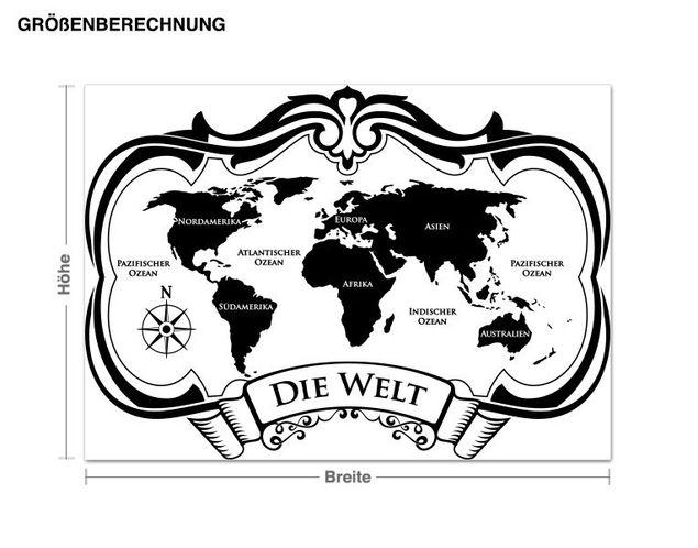 Wandtattoo Die Welt