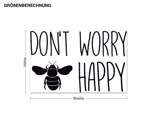 Wandtattoo Don't Worry Bee Happy