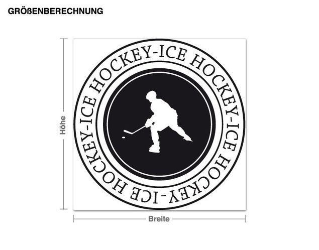 Wandtattoo Eishockey