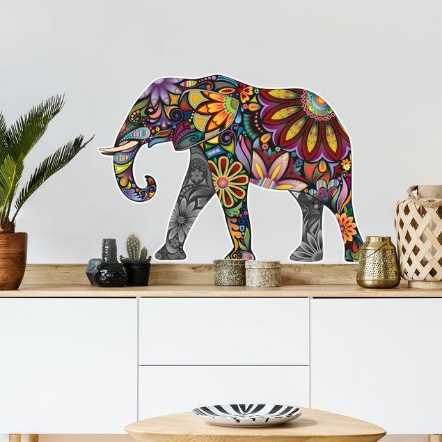 Wandtattoo Elefant No.651 Elefantenmuster