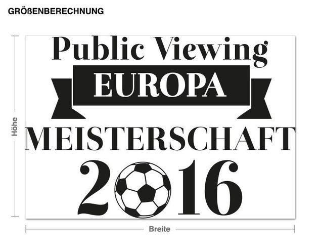 Wandtattoo EM Public Viewing