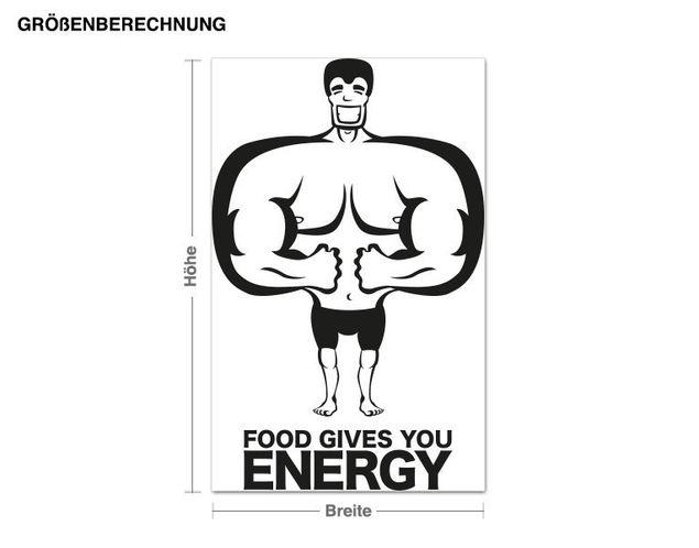Wandtattoo Energy-Food