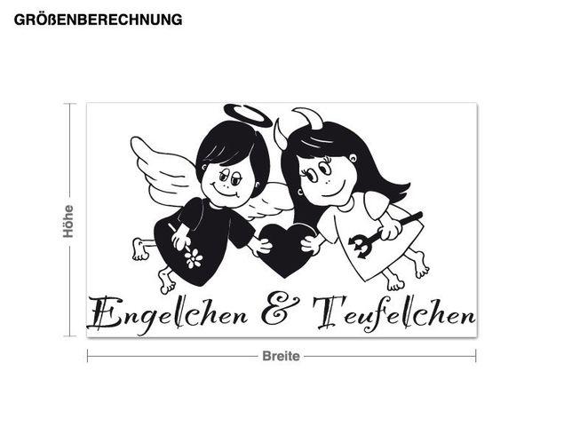 Wandtattoo Engelchen & Teufelchen