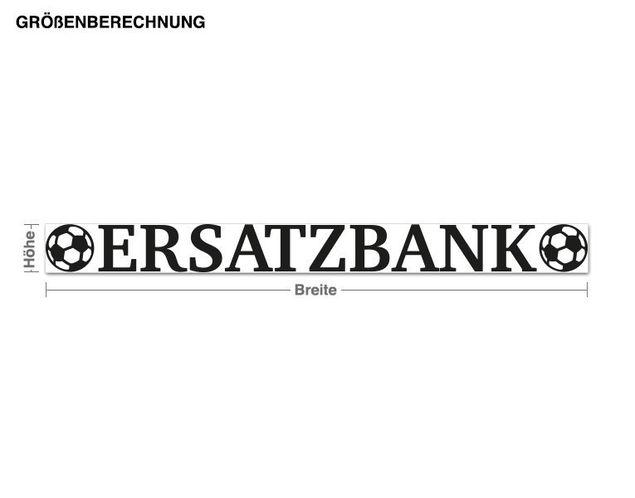 Wandtattoo Ersatzbank