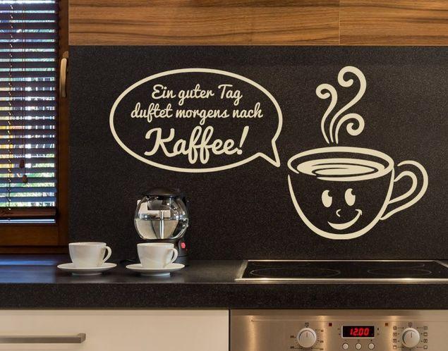Wandtattoo Es duftet nach Kaffee