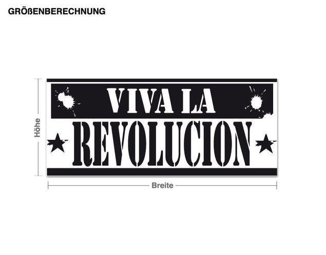 Wandtattoo Es lebe die Revolution