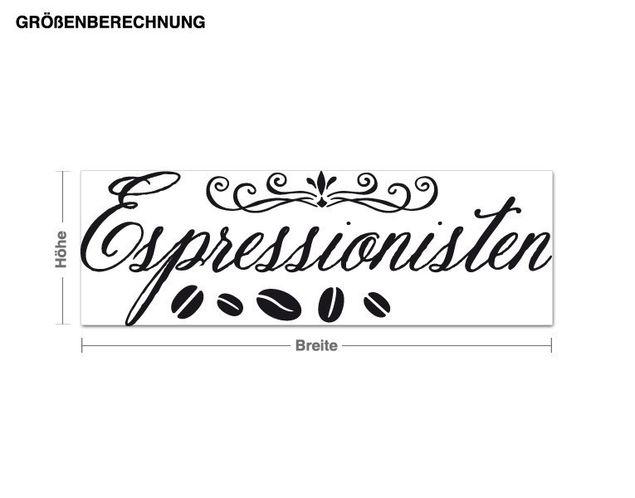 Wandtattoo Espressionisten