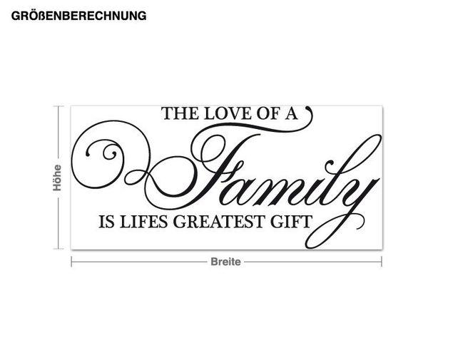 Wandtattoo Family