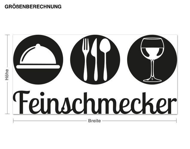 Wandtattoo Feinschmecker