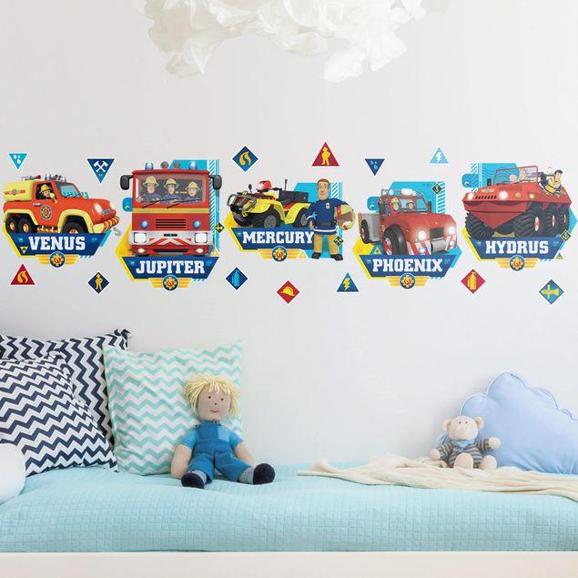 Wandtattoo - Feuerwehrmann Sam - Fahrzeuge