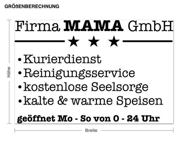 Wandtattoo Firma Mama
