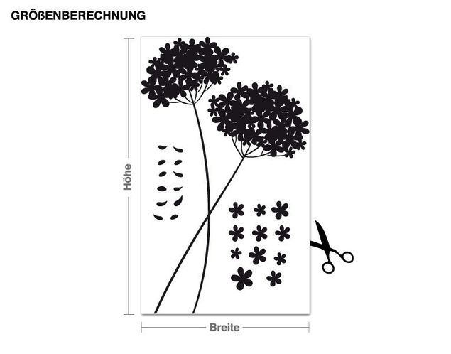 Wandtattoo Fliegender Blütentraum