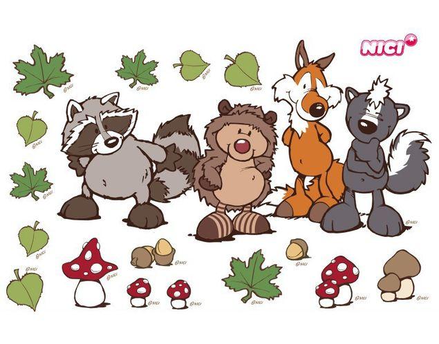 Wandtattoo Forest Friends