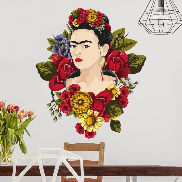 Wandtattoo - Frida Kahlo - Rosen