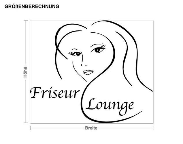 Wandtattoo Friseur Lounge
