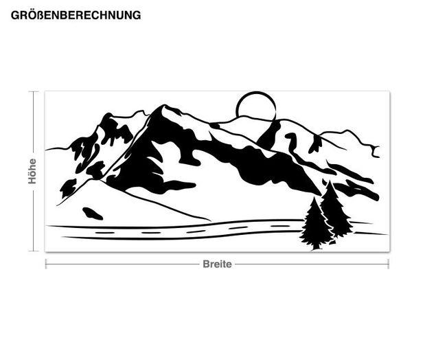 Wandtattoo Gebirge