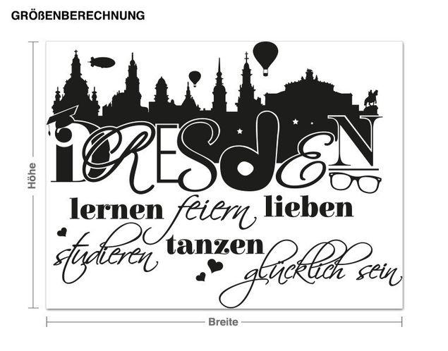 Wandtattoo Glücklich in Dresden