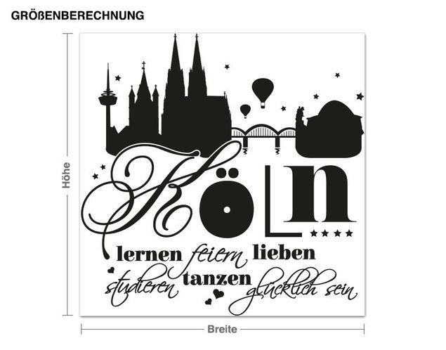 Wandtattoo Glücklich in Köln